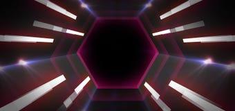 Ljus tunnel för neon royaltyfri illustrationer