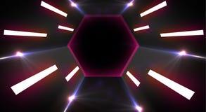Ljus tunnel för neon stock illustrationer