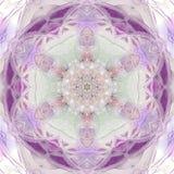 Ljus ultraviolett design för tegelplatta för trianglar för mandalabakgrundsanbud med vita strålar Arkivbilder