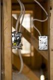 ljus ungefärlig strömbrytare Fotografering för Bildbyråer