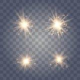 Ljus upps?ttning f?r guld- gl?d royaltyfri illustrationer