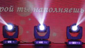 Ljus utrustning på bankett lager videofilmer