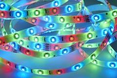 Ljus - utsändande av dioder Arkivbild