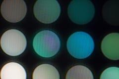 Ljus - utsändande av dioder för LED skärm Digital LEDD skärmbakgrund Arkivfoto