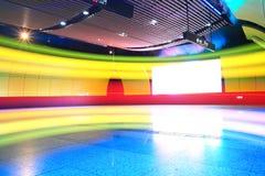 ljus vägg för färg Arkivfoto