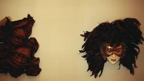 Ljus vägg Hd för Carnaval maskering lager videofilmer
