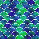Ljus våg i gräsplan- och blåttfärgpalett royaltyfri illustrationer