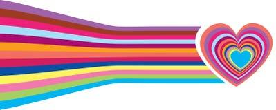 ljus valentin för korthjärtor s Arkivbilder