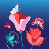 Ljus vykort för blomma