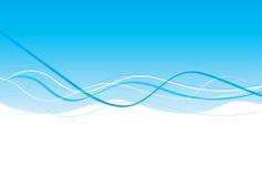 ljus wave för blå design Arkivbild