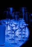 ljus wine för blåa exponeringsglas Royaltyfri Foto