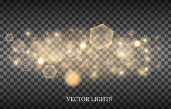 Ljusa abstrakta glödande bokehljus royaltyfri illustrationer