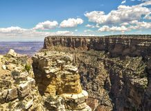 Ljusa Angel View Point - Grand Canyon, södra kant, Arizona, AZ royaltyfri bild