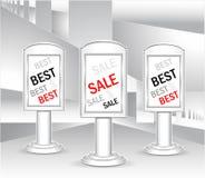 Ljusa askar för mall eller mest bra försäljning för begrepp Royaltyfria Bilder