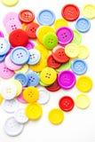Ljusa blandade knappar, royaltyfri bild