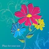 ljusa blommor stock illustrationer