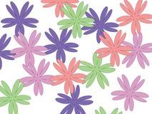 Ljusa blommor på en solig dag royaltyfri illustrationer