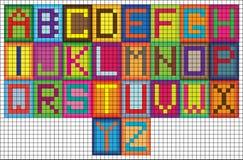 Ljusa bokstäver för alfabet för mosaiktegelplattor Royaltyfri Bild