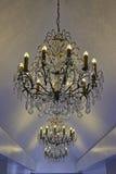 Ljusa chandlers med kristaller Royaltyfria Bilder