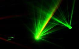 Ljusa diskoljus och laser Arkivfoton