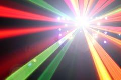 Ljusa effekter för konsert Arkivbilder