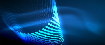 Ljusa effekter för neon, partiklar royaltyfri illustrationer