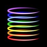 Ljusa effekter för neonregnbåge royaltyfri illustrationer