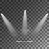 Ljusa effekter för strålkastarevektor stock illustrationer