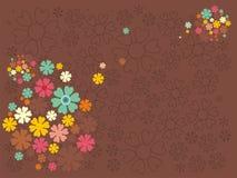 ljusa färgade mång- silhouettes Royaltyfri Fotografi