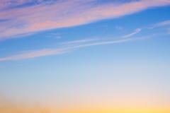 Ljusa färger i en härlig himmel Royaltyfri Fotografi