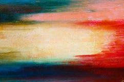 Ljusa färger på kanfasen Arkivbild