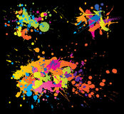 ljusa färgglada färgpulverfärgstänk Arkivbild