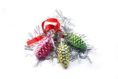 Ljusa färgrika garneringar för jul Arkivbilder