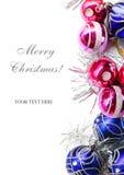 Ljusa färgrika garneringar för jul Royaltyfri Foto