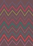 Ljusa färgrika linjer modell, vektorbakgrund för sicksack Royaltyfri Fotografi