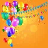 Ljusa ferieballonger Arkivfoton