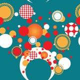 Ljusa festliga cirklar Stock Illustrationer