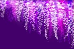 Ljusa glödande sakura som flödar från himlen Arkivbild