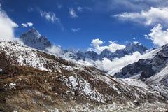 Ljusa Himalayas Arkivfoto