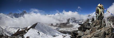 Ljusa Himalayas Fotografering för Bildbyråer