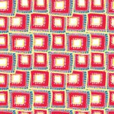 Ljusa karmosinröda rektanglar som varvar på de stock illustrationer
