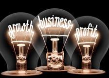 Ljusa kulor med affärstillväxtbegrepp royaltyfri illustrationer