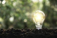Ljusa kulor med gl?dande teknologi- och kreativitetbegrepp med ljusa kulor och kopieringsutrymme f?r mellanl?ggstext royaltyfria bilder