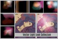 Ljusa läckaeffekter Arkivfoto