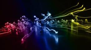 ljusa linjer Arkivbild