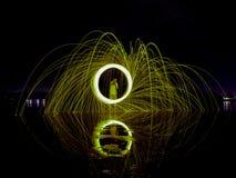 Ljusa linjer av stålull Royaltyfria Foton