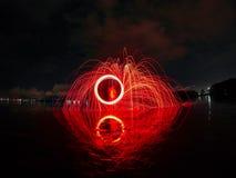 Ljusa linjer av stålull Fotografering för Bildbyråer
