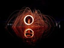 Ljusa linjer av stålull Royaltyfri Foto