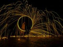 Ljusa linjer av stålull Arkivfoton