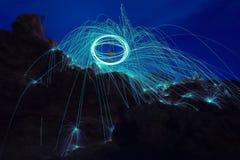Ljusa linjer av stålull Royaltyfri Fotografi